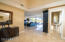 Marble flooring throughout living spaces.
