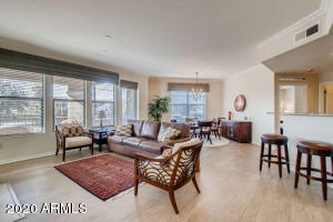 Beautiful hard surface Great Room and access to large corner balcony