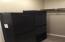 Master closet has built in dresser.