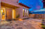 Gated front courtyard with water feature. Casita is to your right in this photo.