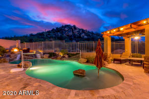 Resort backyard w/extraordinary views & heated pool/spa, water features, outdoor kitchen, pergola, firepit.