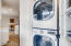 Gas Dryer & stacked Washer -