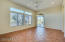 Spacious master with private backyard exit