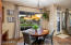 Breakfast nook (can accomodate a large table). Kitchen sitting desk with built in file storage.