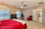 Spacious master with 2 separate walk in closets