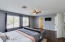 Large master bedroom with double doors