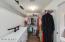 Large walk-in closet, master bedroom