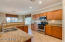 Gourmet kitchen with granite and newer appliances.