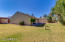Grassy side yard