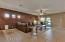 Large open great room floor plan with sliding doors to the backyard.