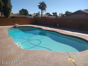Beautiful sparkling diving pool.