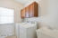 Laundry room is upstairs with easy access to all bedrooms.