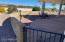 Fenced patio area