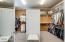 master closet with cedar panels & split design