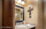 Powder Room by kitchen