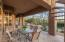 Covered patio areas offer many options for outdoor living