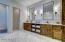Master Bath - marble floors, custom cabinets & mirrors