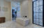 Master Bath tub & walk-in shower w/ marble surrounds