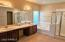 Large Master Bath with built in Vanity, Double Sinks and Sep Tub/Shower.