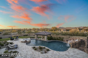 Imagine having these stunning views and sunsets in this resort style backyard!