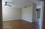 newer floor, vaulted ceilings