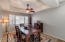 Formal Dining Room with Tri-Ceiling