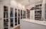 One of the two walk-in Master closets