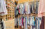 Custom master closet.