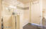 Full master bath with separate shower and soaking tub