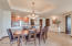 Dining with Recessed Ceiling Feature