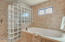 Jetted Tub and Glass Block Shower