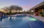 Heated saltwater pool with spa.