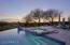 You can see with the pool, spa, fire-pit and sunset backdrop how much entertaining is available.