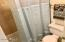 Private shower/toilet in Master