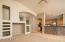 Notice the open floorplan to the kitchen.