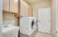 Washer and dryer included, utility sink