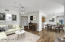 Living room / dining room staged