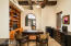 Beamed ceiling and built-ins