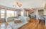 Living/dining area is ideal for relaxing and entertaining