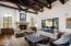 Reclaimed wood flooring, beautiful ceiling detail