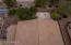 Birds eye view of backyard