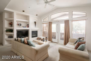 Great room with vaulted ceilings and plenty of natural light