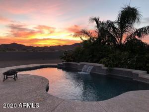 Backyard Pool at Sunset