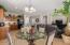 Dining Area and Kitchen area adjoin