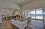 Open floor plan, multi paneled sliding door