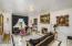 Elegant formal living room with fireplace