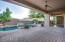 Large Pavered Patio with Ceiling Speakers and Fan