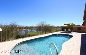 Golf course VIEW with water (pond) and direct Four Peaks Mountain VIEWS