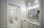 Guest bathroom is fresh & white & squeaky clean!