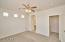 Split Floorplan Owner's suite, with walk-in closet and double sink bathroom.